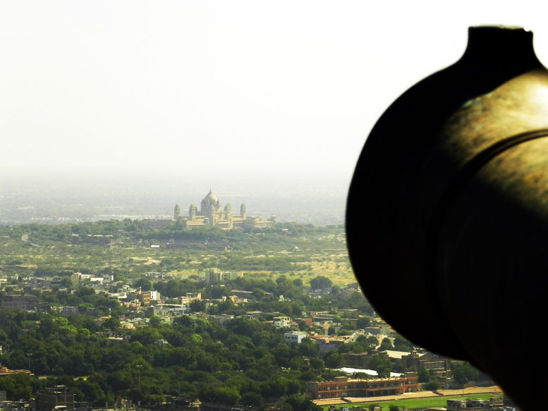 Mehrangarh - Cannon and Umaid Bhawan
