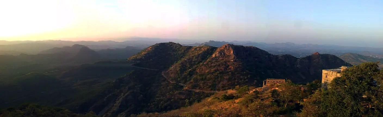 Udaipur - Sajjangarh panorama