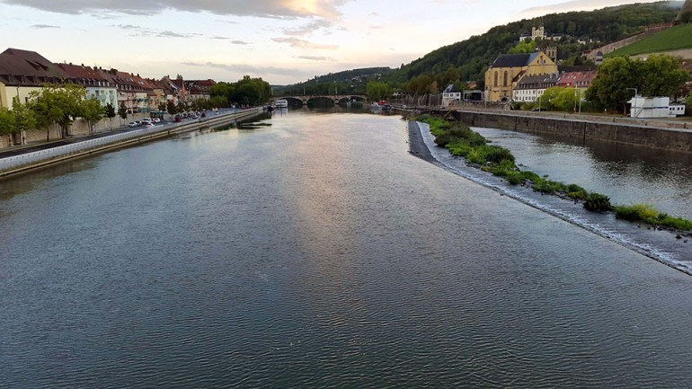 Wuerzburg - River from bridge