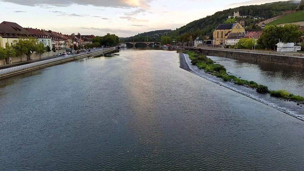 Wuerzburg - River from bridge