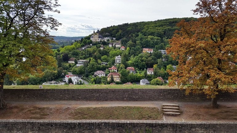 Wuerzburg - View from castle - Hill 2