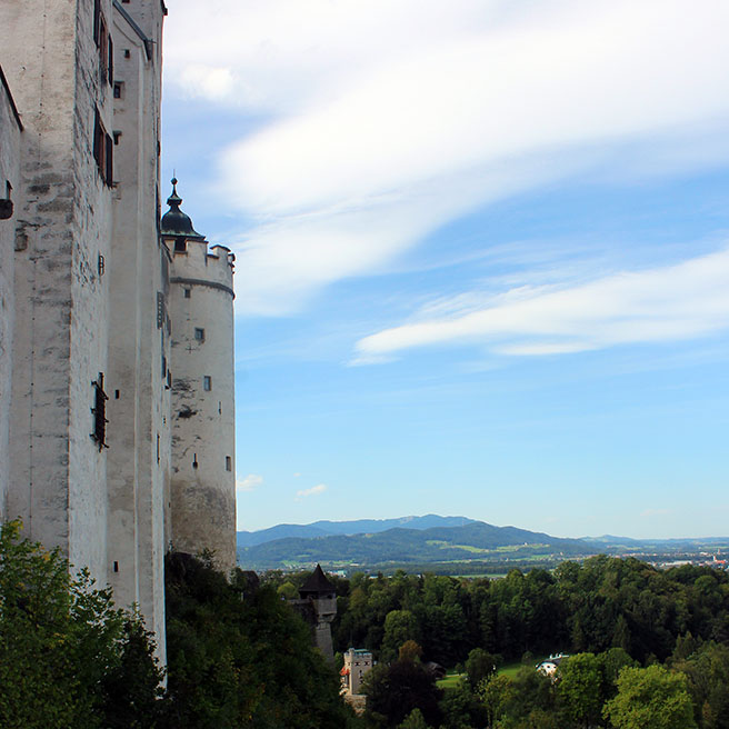 Fortress walls - Ainring, Salzburg and the Jenner: A road trip through Germany, and other ways to pass the time (Part 5)