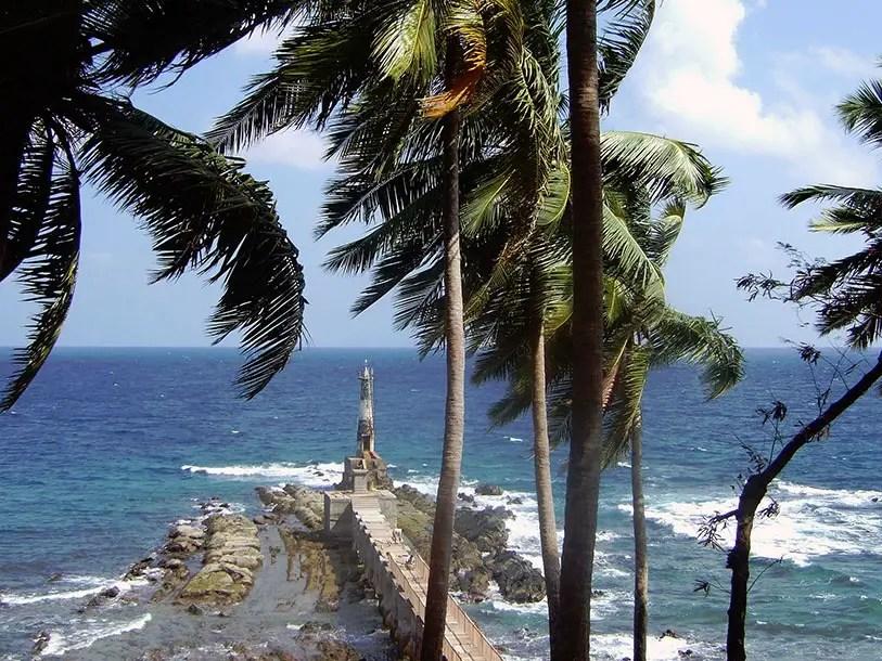 Old lighthouse on Ross Island, Andaman and Nicobar Islands, India - travel photos