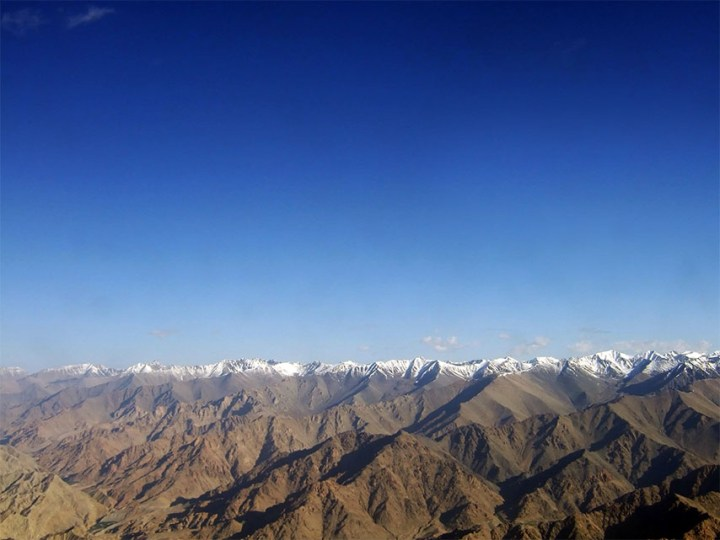 The himalayas seen from the flight to Leh, Ladakh, India - travel photos