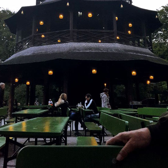 Munich - Chinese tower benches - Munich and the Oktoberfest: Part 6 of A road trip through Germany, and other ways to pass the time