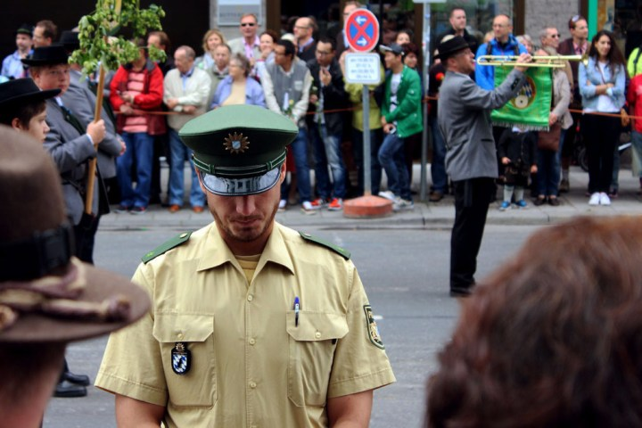 Munich - Parade policeman - Munich and the Oktoberfest: Part 6 of A road trip through Germany, and other ways to pass the time