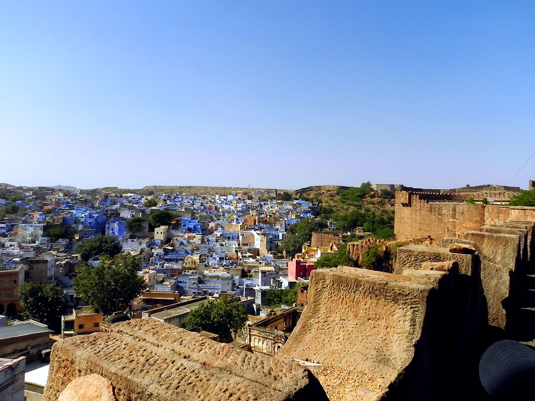 The ramparts of Mehrangarh fort in Jodhpur, Rajasthan, India - travel photos