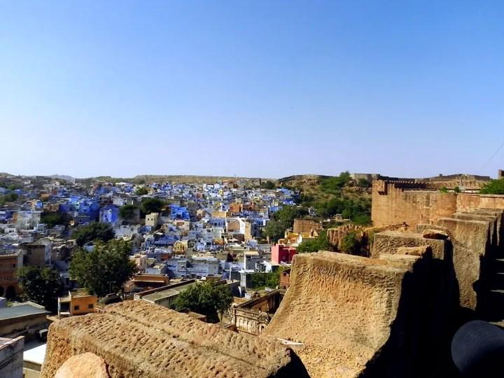 The ramparts of Mehrangarh fort in Jodhpur, Rajasthan, India - travel photos