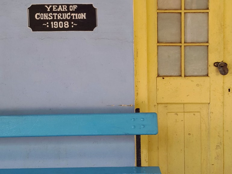 Coonoor - Wellington station bench and door