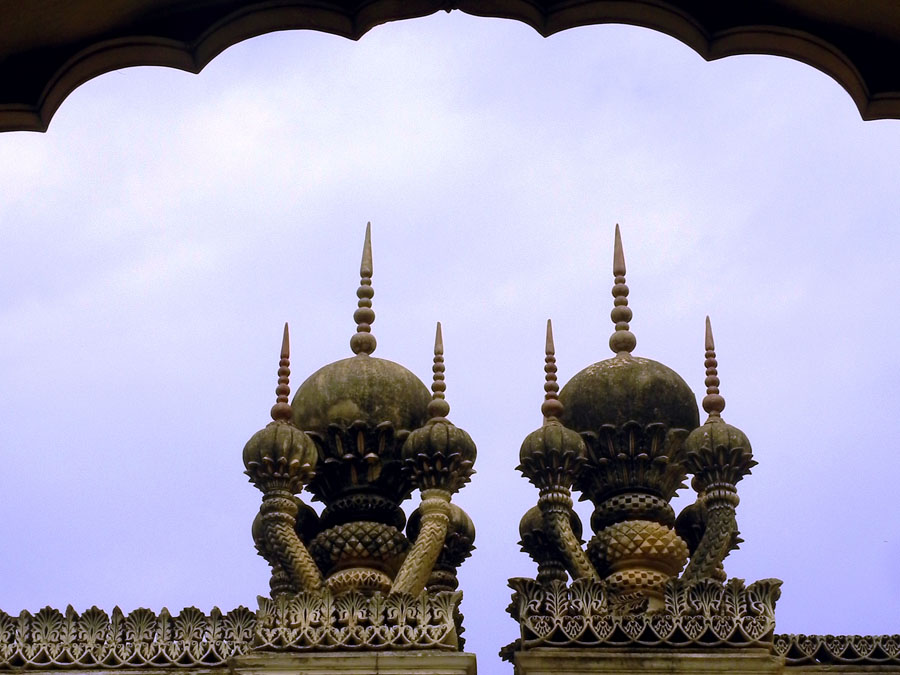 Two minarets close-up