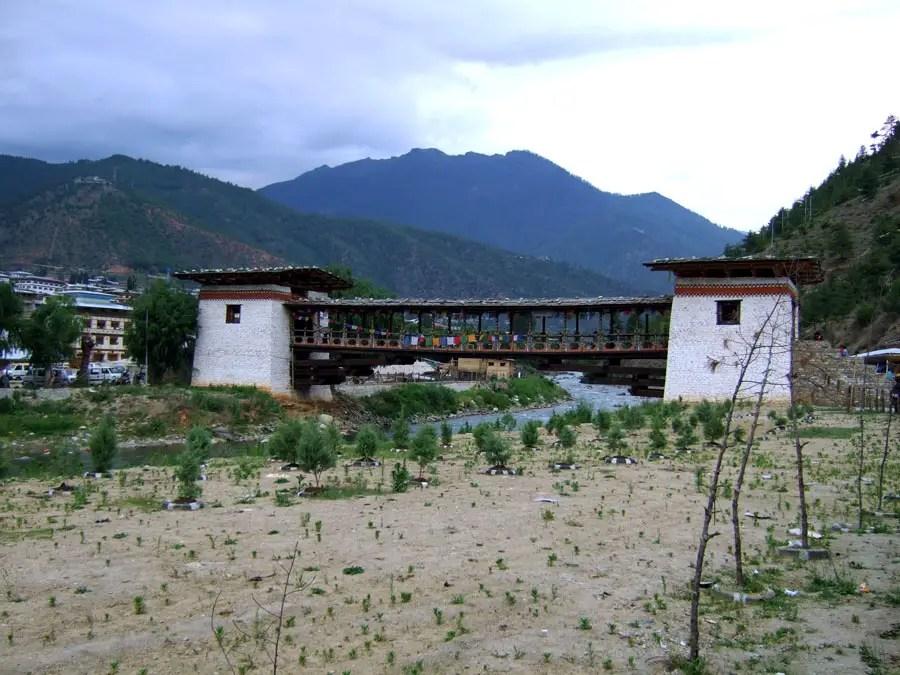 Bhutan - Market bridge - mountain holiday destinations in India