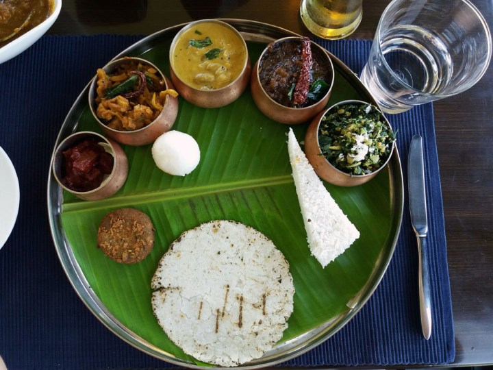 Thali at the restaurant of the Taj resort - What to do in Coorg