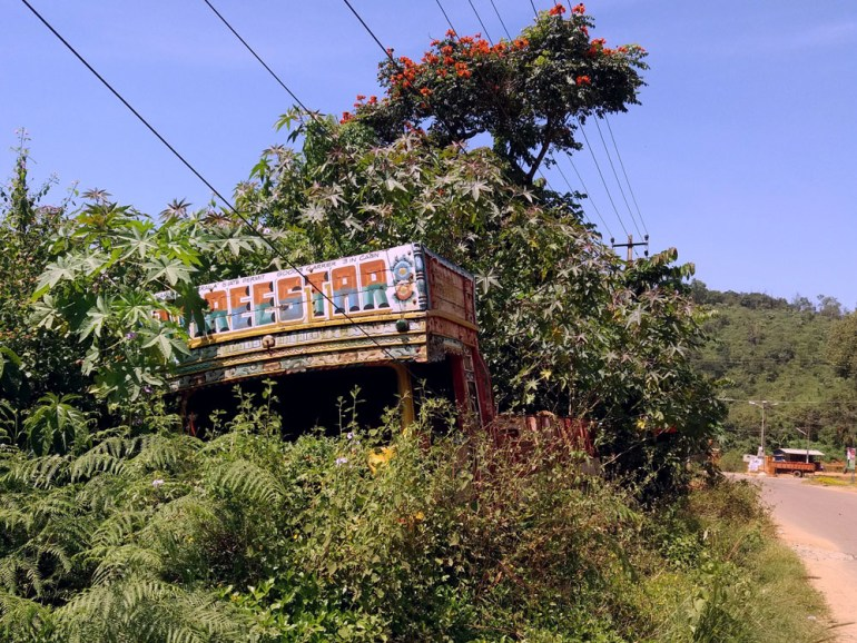Coorg - Truck in the bushes