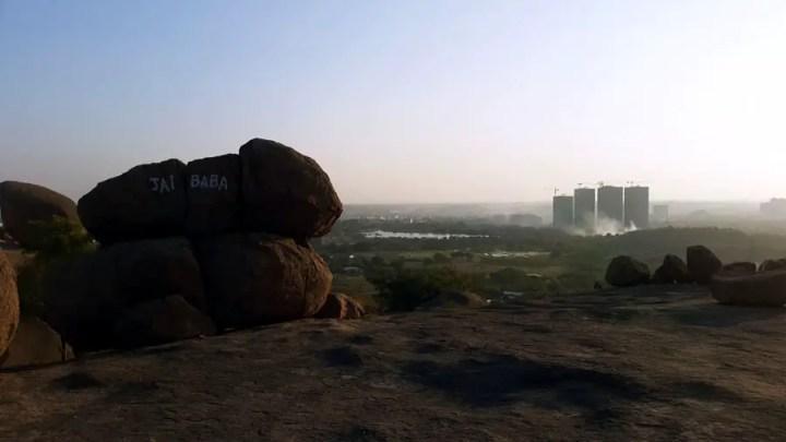 Fakhruddingutta - View towards Narsingi