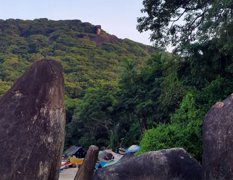 View of the hill from Agonda beach, Goa, India - perfect base for a Goa trip