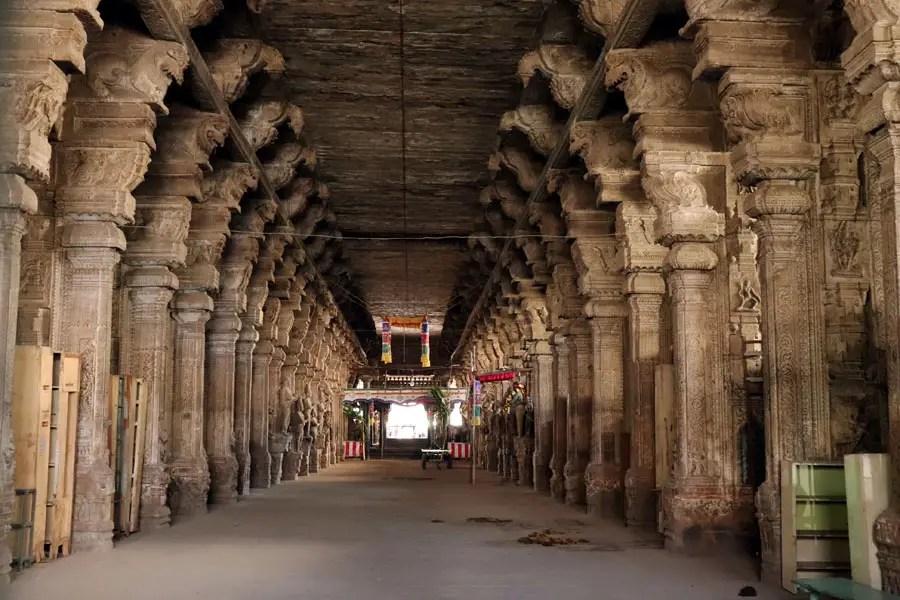 Madurai - Pudumandapa pillars - Temples of Madurai and Thanjavur