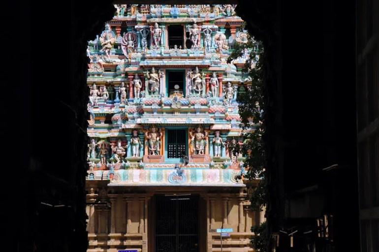 Madurai - view through north gopuram - Temples of Madurai and Thanjavur