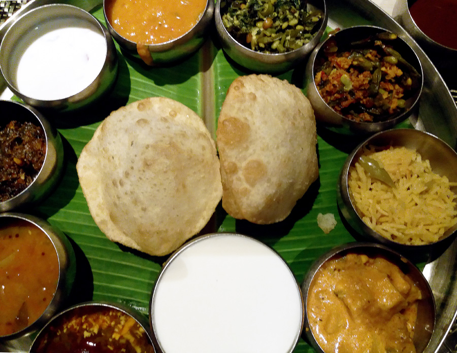 Veg thali - Hyderabad itineraries and things to do