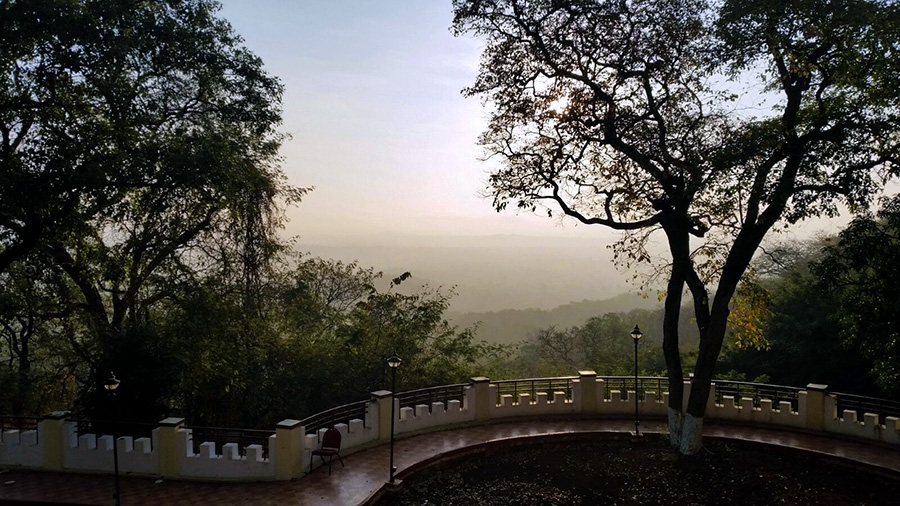 Great road trips from Hyderabad- View from Haritha resort, Ananthagiri Hills, Vikarabad, India
