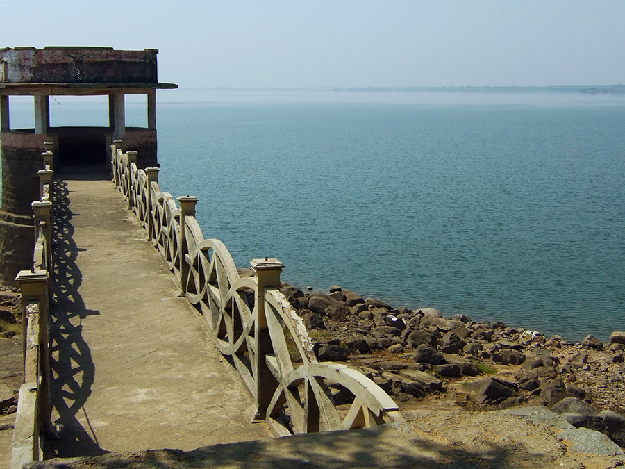 Pavilion at Nizam Sagar, Telangana, India