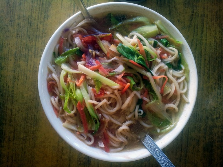 Thukpa - noodle and vegetable soup - Ladakh, Jammu and Kashmir - vegetarian dishes from India