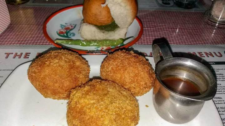 Veg cutlet at SodaBottleOpenerWala, Hyderabad, India - Great restaurants for vegetarians in Hyderabad