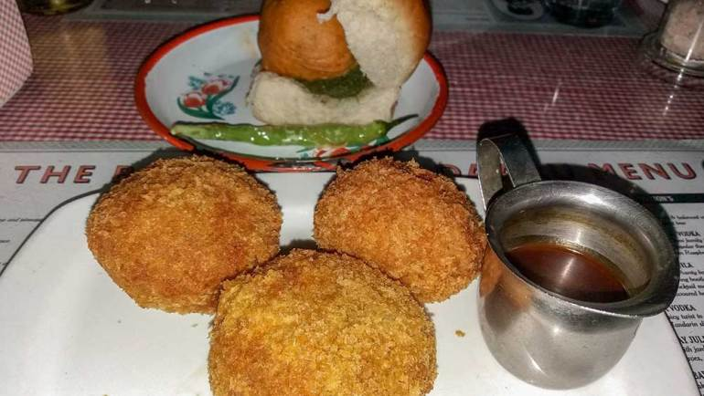 Veg cutlet at SodaBottleOpenerWala, Hyderabad, India - Great restaurants for vegetarians in Hyderabad