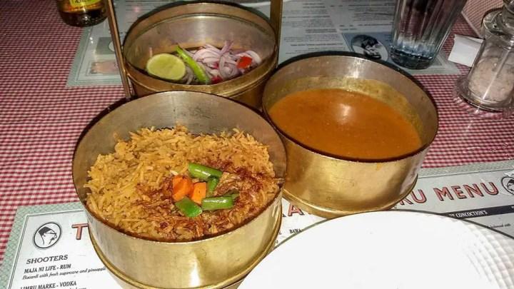 veg dhansak at SodaBottleOpenerWala, Hyderabad, India - Great restaurants for vegetarians in Hyderabad