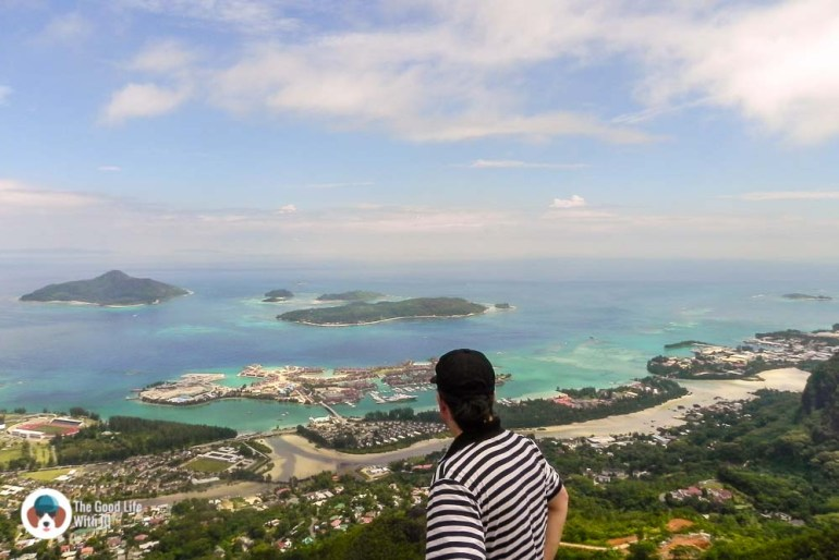 At the top of the Copolia trail, Mahe, Seychelles