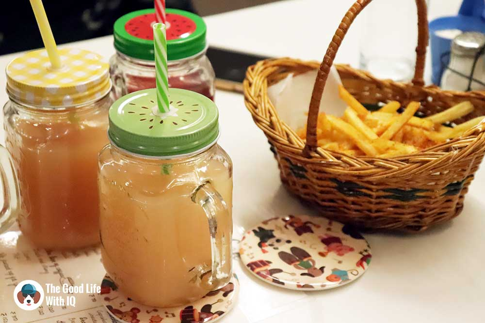 Fries and juice - The Pet Café: Hyderabad's new pawty hotspot