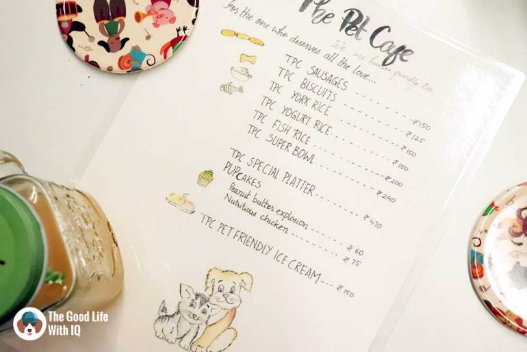 Pet menu - The Pet Café: Hyderabad's new pawty hotspot