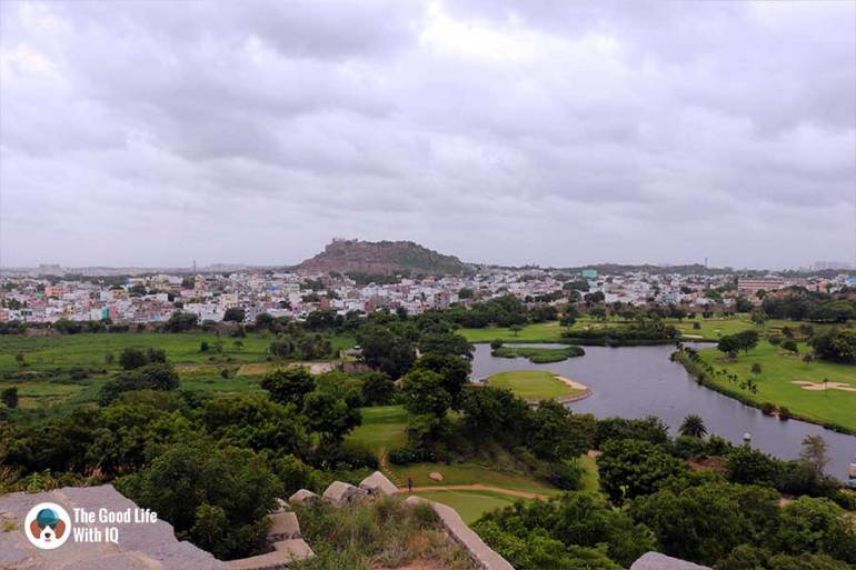 view of bala hissar from naya qila - Things to do on the weekend in Hyderabad: The outer ramparts of Golconda Fort