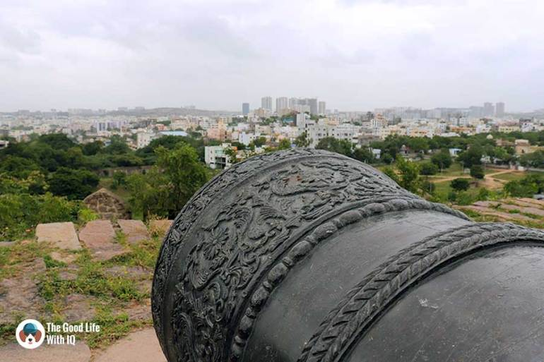 Fateh Rahbar on petla burj - Things to do on the weekend in Hyderabad: The outer ramparts of Golconda Fort