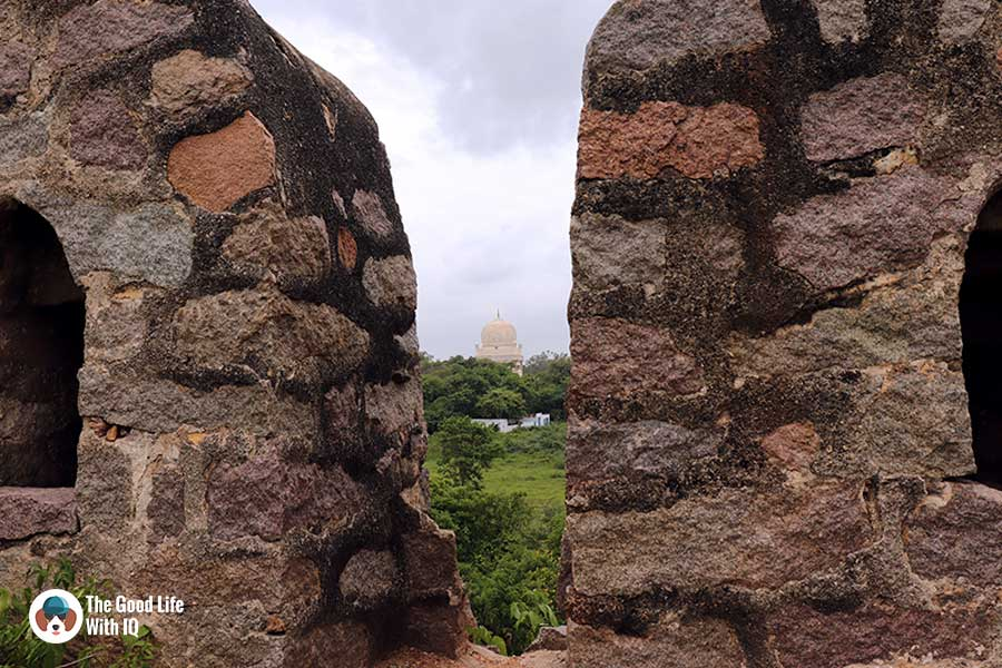 qutb shahi tomb seen from petla burj - Things to do on the weekend in Hyderabad: The outer ramparts of Golconda Fort