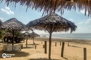 Beach umbrellas - A rejuvenating break in Malindi, on the coast of Kenya