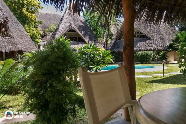 Dining table at our homestay in Malindi