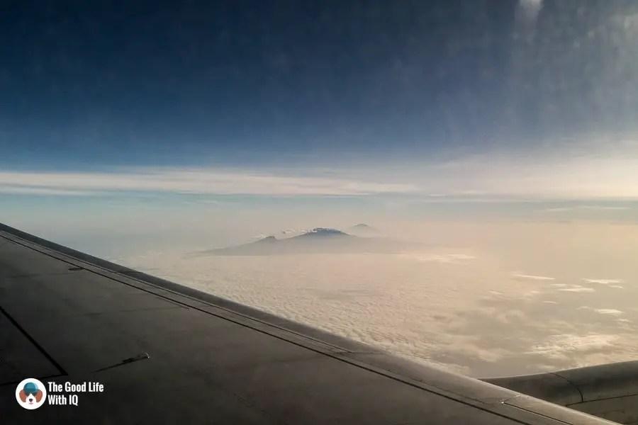 Kilimanjaro seen from plane