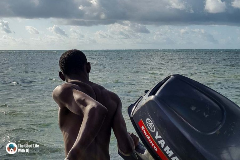 boatman - malindi marine national park