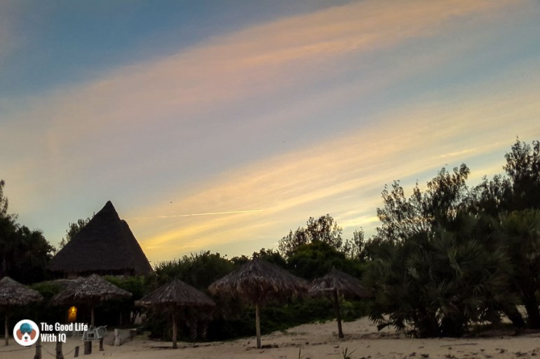 Sunset at our homestay's beach in Malindi