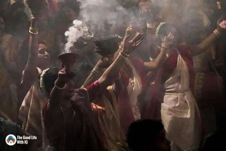 Ladies in tranditional dress - Durga Puja 2018