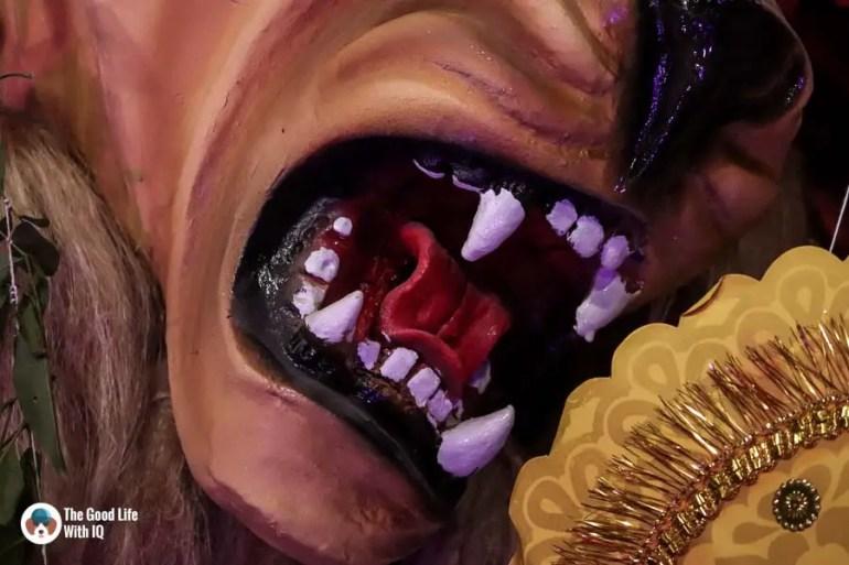 Lion's teeth - Durga Puja 2018
