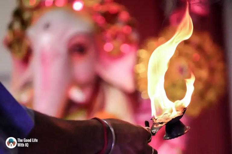 Sacred flame - Durga Puja 2018