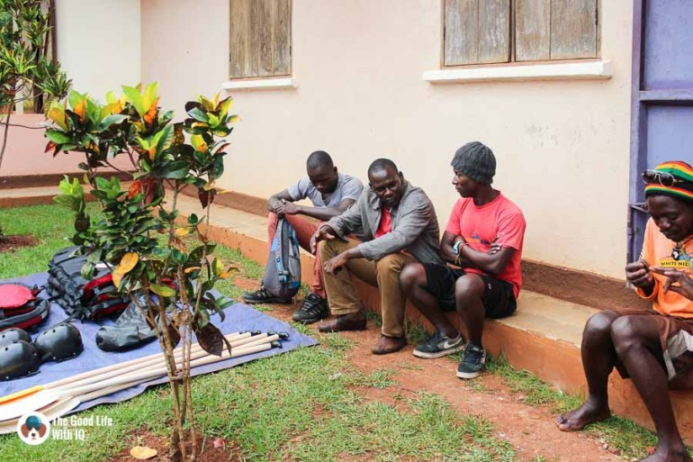 Rafting support team, Jinja, Uganda