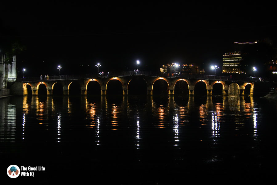 Illuminated bridge - Udaipur