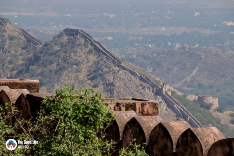 Amer fort walls, Jaipur