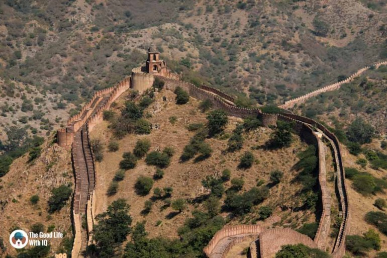 Amer fort walls, Jaipur