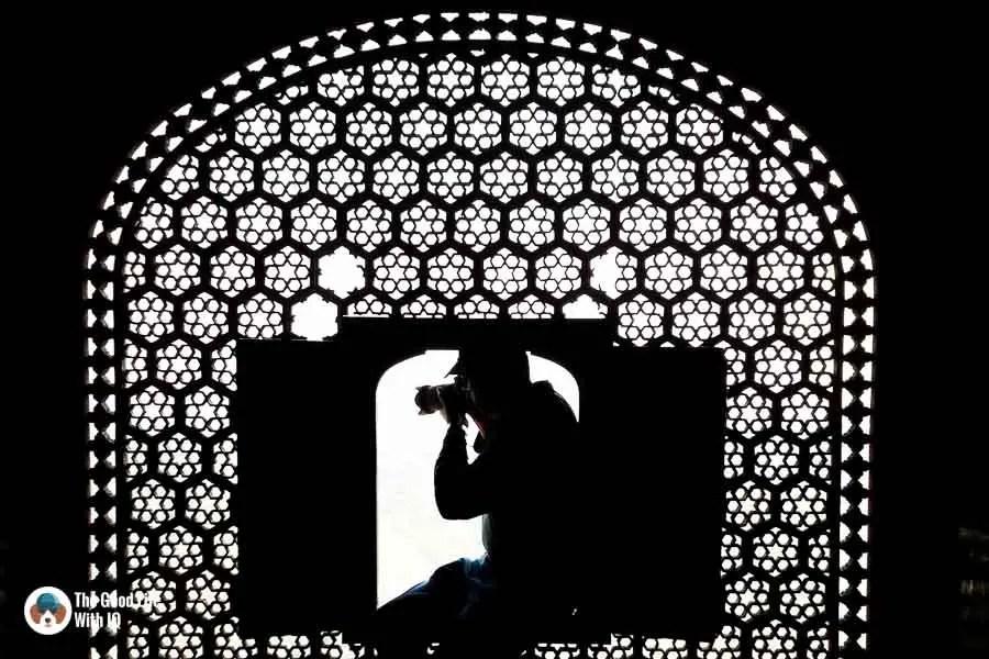 Camera and filigree window - Tamron 18-400 review