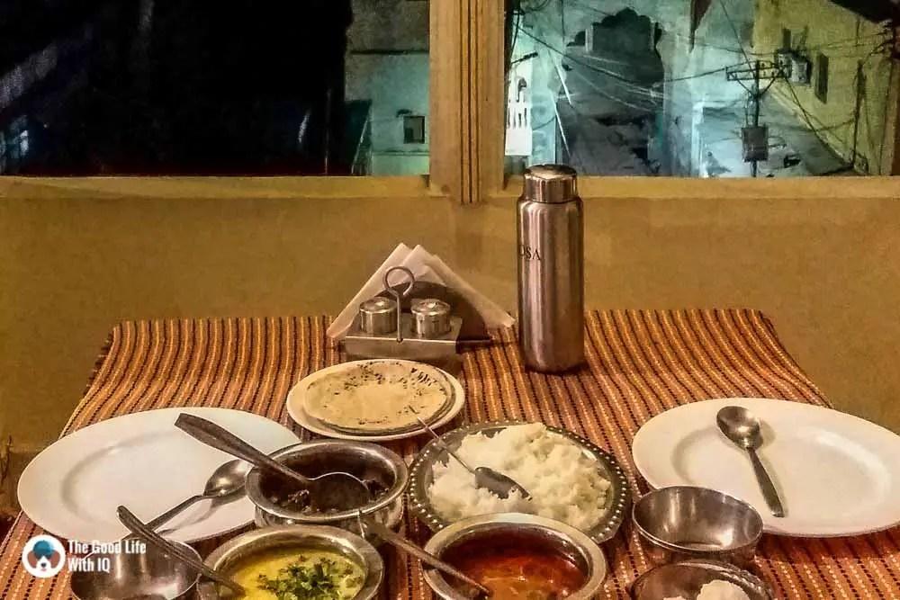 Homely meal at Haveli Katkoun, Bundi