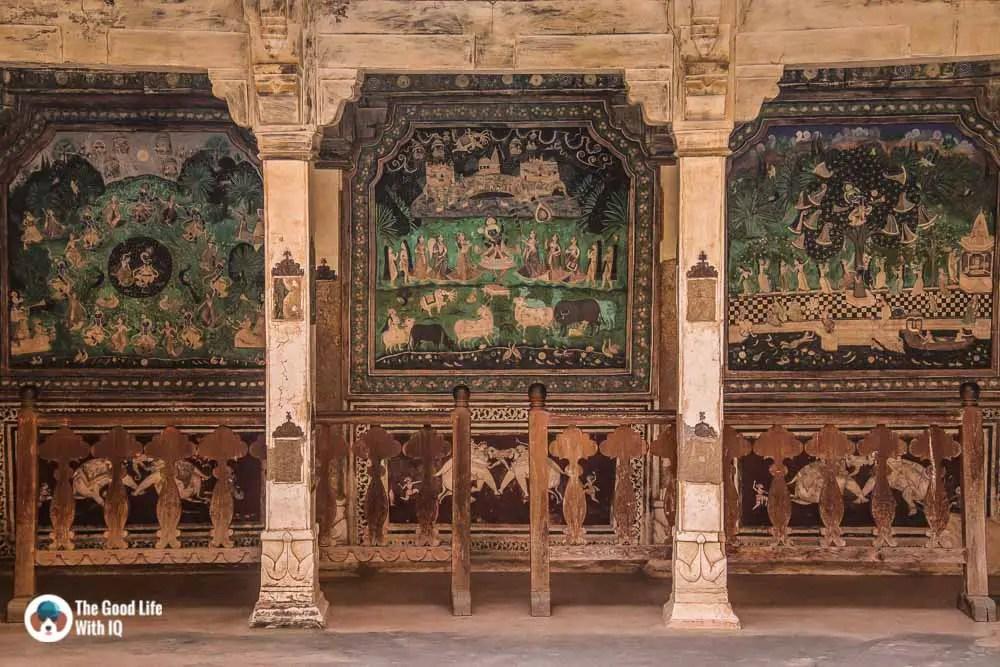 Murals, Chitrashala, Garh Palace, Bundi