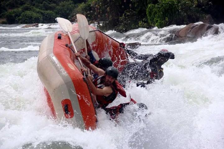 Raft capsizing - Jinja, Uganda